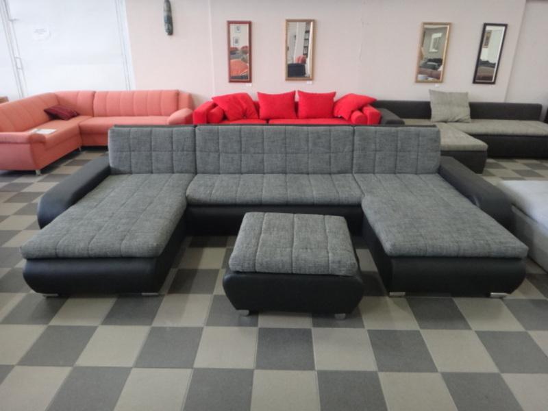 U-form, U alakú kanapé + puff